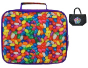 Sweets-A-Riffic Candy Insulated Lunch Box & Tote-2 Piece Set Back to School