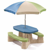 Comfortable and Easy to Clean Naturally Playful Picnic Table, Multicolor