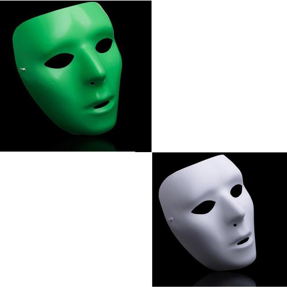 dongcrystal 2pcs women's jabbawockeez hiphop mask halloween cosplay