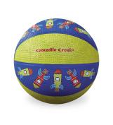 Crocodile Creek Rocket Patterned Kid-Sized Basketball, Blue/Green, 14cm