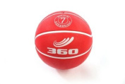 360 Athletics Playground Rubber Basketball, Size 7, Red