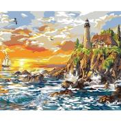 Plaid Creates Paint by Number Kit, Craggy Cove, 22059 Size 41cm by 50cm