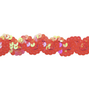 Sequin Trim 2.5cm Wide Polyester Non Stretch Sequin Trim Rolls for Arts and Crafts, 10-Yard, Fuchsia