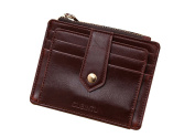 Vlike Mini slim Credit Card Case Wallet with ID Window and Zipper Holder purse