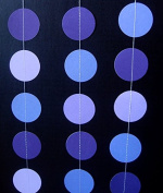 Quasimoon Purple Ombre Paper Circle Garland by PaperLanternStore