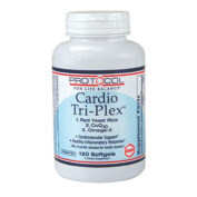 Protocol For Life Balance - Cardio Tri-Plex - Red Yeast Rice, CoQ10 and Omega-3 Rich Fish Oil for Cardiovascular Support - 120 Softgels