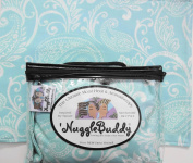'NUGGLEBUDDY NEW! Microwaveable Moist Heat & Aromatherapy Organic Rice Pack. Cold Pack! Beautiful Caribbean Blue Paisley Fabric. This Product is UNSCENTED!.