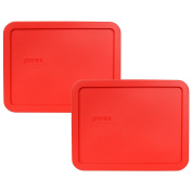 Pyrex 7211-PC Red 6 Cup Rectangular Plastic Lid