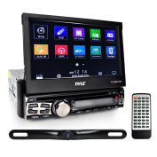 Pyle 18cm Single Din Touchscreen Bluetooth Head unit Flip Out Receiver & Backup Camera Kit