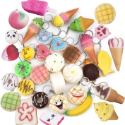 Random 10 Pack Squishies Squishy Toys Charms Cell Gift Phone Chain Phone Straps