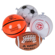 12 Mini SPORTS BALL Beach BALL Inflates/20cm BASEBALL Basketball FOOTBALL SOCCER/INFLATABLE Party Favours