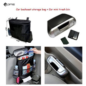 PME Car Backseat Storage Organiser Bag And Trash Bin ,Car Storage Combo Set