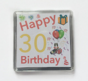 Happy 30th Birthday Gift - Lucky Sixpence Keepsake