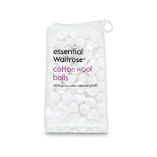 Pure Cotton Wool Balls 85g essential Waitrose 100 per pack