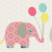"Wallpaper Border Children ""Family Elephant"""