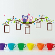 ADAALEN DIY Owl Photo Frame Removable Wall Decal Sticker Home Decoration