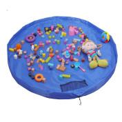 Large 150cm Diameter Baby Kids Play Floor Mat Toy Storage Bag Organiser Blue