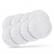Kiddo Care Washable Organic Bamboo Nursing Pads -8 PACK (4 pairs)- Reusable Breast Pads,Bra pads, Leakproof, Ultra soft, Waterproof, Hypoallergenic breastfeeding pads, absorbent pads, + 2  .  s !!