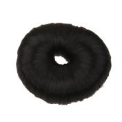 Fashion Bun Shapers Hair Doughnut Bun Ring Shaper Hair Donut Style Updo - Pure Black