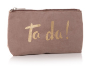 Shruti Design Cosmetic Bag - Ta Da! - Beige/Gold