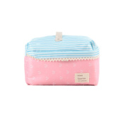 Fieans Lady Makeup Organiser Cosmetic Container Pouch Case Box Large Capacity Portable Toiletry Travel Bag-Pink