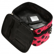 Makeup Bag - All4you Multifunction Travel Makeup Case Cosmetic Bag Zip Wash Organiser with Dot Pattern