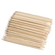 Warm Girl 100pcs Nail Art Orange Wood Stick Cuticle Remover Nail Care Tools