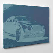 Big Art Shop - Bentley Continental GT - Framed Canvas Art Print Car luxury GT Grand Touring, 36x24 inches / 91x61x3.8 cm