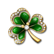 'Royal Shamrock' Brooch By The Bradford Exchange