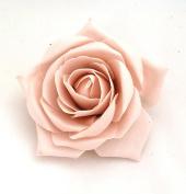 Nude Open Rose Artificial Hair Flower Clip Buttonhole Corsage by Fabulous Fascinators