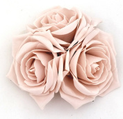 Large Nude Roses Cluster Artificial Hair Flowers Fasciator Clip Hand Made in Uk