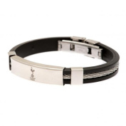 Official Tottenham Hotspur FC Silver Inlay Silicone Bracelet