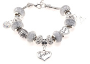 Sister 21st Birthday Charm Bracelet with Gift Box Women's Jewellery