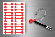 Stickers Sticker Jewellery Price Label shop Jewellery - Red Pack of 44
