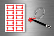 Stickers Sticker Jewellery Price Label shop Jewellery - Red Pack of 22