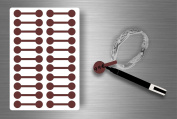 Stickers Sticker Jewellery Price Label shop Bijouterie Brown/Pack of 100