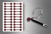 Stickers Sticker Jewellery Price Label shop Bijouterie Brown/Pack of 44