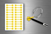 Stickers Sticker Jewellery Price Label shop Jewellery - Yellow (Pack of 22