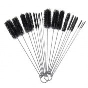 VANKER Hot Nylon Bottle Tube Brushes Cleaning Set for Kitchen Spray Slot Tattoo 10 Pcs