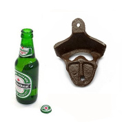 Aliciashouse Antique Iron Wall Mounted Bar Beer Bottle Opener Kitchen Gadgets