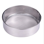 AsentechUK® Stainless Steel Flour Sifting Mesh Sifter Powdered Sugar Sieve Strainer Cake Baking Kitchen Tool