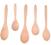 Wood Spoon Set Seasoning Soup Spoons Kitchen Tool 5PCS
