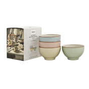 Denby Always Entertaining Deli Bowl, Stone, Blue/Pink/Yellow/Green, Small, Set of 4