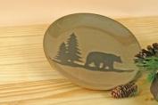 Woodland Bear Stoneware Salad Plate