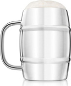 Final Touch Stainless Steel Large Double-Wall Beer Keg Mug Tankard - 1 Litre -FTA1700