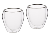 KitchenCraft Le'Xpress Insulated Double-Walled Glass Tumblers, 250 ml