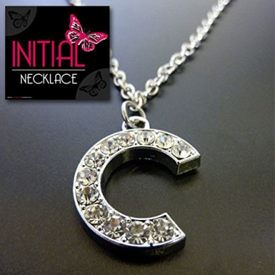 INITIAL NECKLACE LETTER C