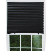 H.Versailtex 6 x Black Affordable Instant Temporary Pleat Paper Blinds, Provides Instant Security, Privacy & Style, Quick Fix & Easy to Instal, 90cm x 180cm