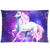 1Croninoutlet shop Nebula Galaxy Space Unicorn horse background Cotton Linen Decorative Throw Pillow Cover Cushion Case Pillow Case,two-sided print,41cm x 60cm