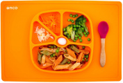 Onco Baby Placemat ((INTRODUCTORY OFFER)) Two-In-One Silicone Suction Plate & Mat, Great for Baby Led Weaning and Less mess making Mealtimes Fun!